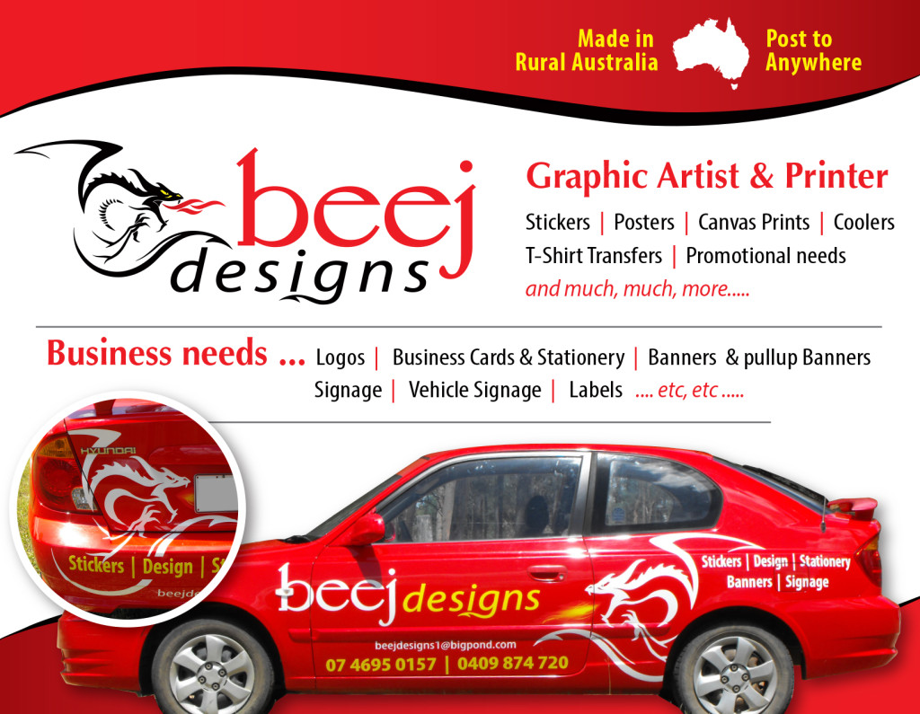 beej designs car graphic