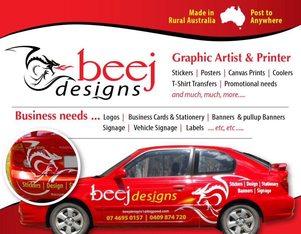 beej designs car graphic