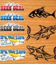 Boat Fishing stock decals