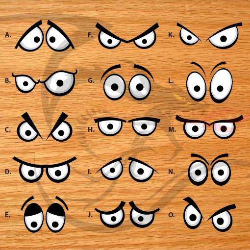 Cartoon Eyes - Stock Decals