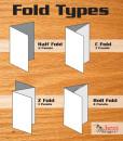 Brochure fold types