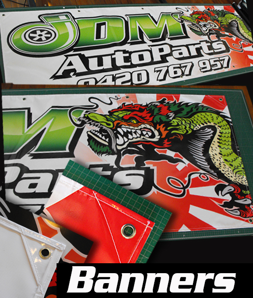 JDM Vinyl Banner