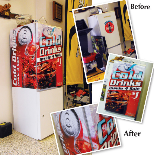 Drinks Fridge Wrap