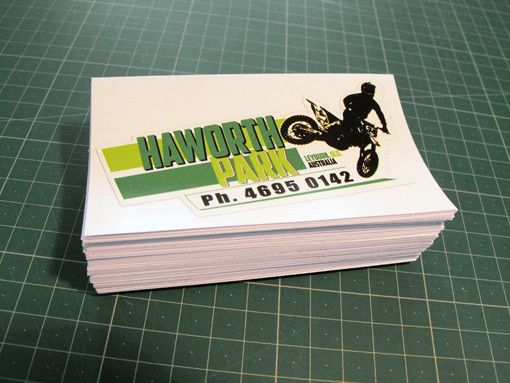 Haworth Park advertising decals